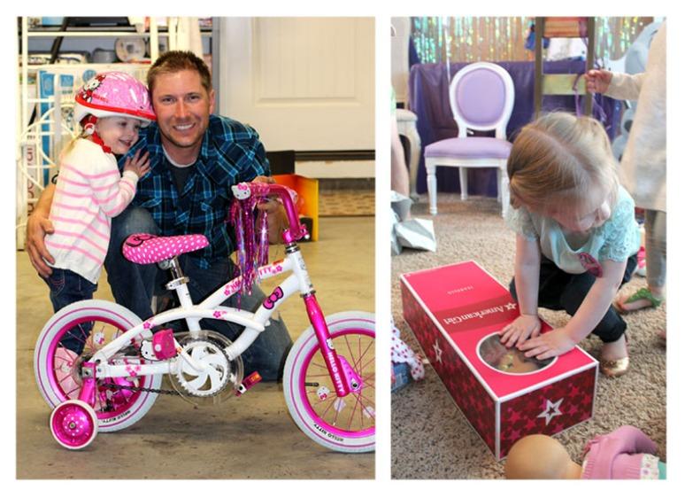 bike and doll